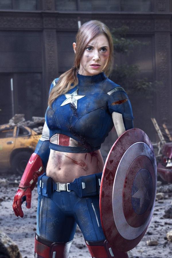 Captain America Alison Brie