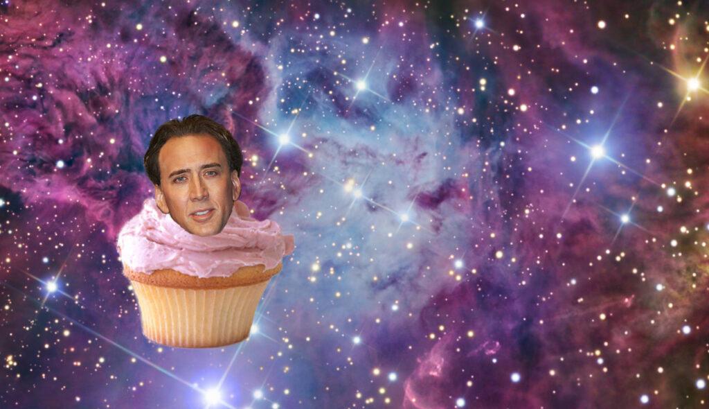 Nicolas Cage é um bolinho espacial. Seu argumento é inválido